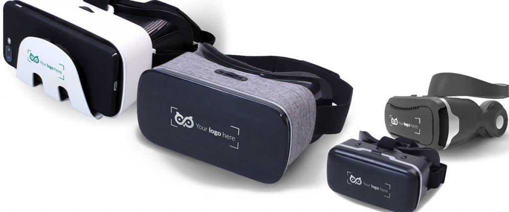 VR Brille mit Logo